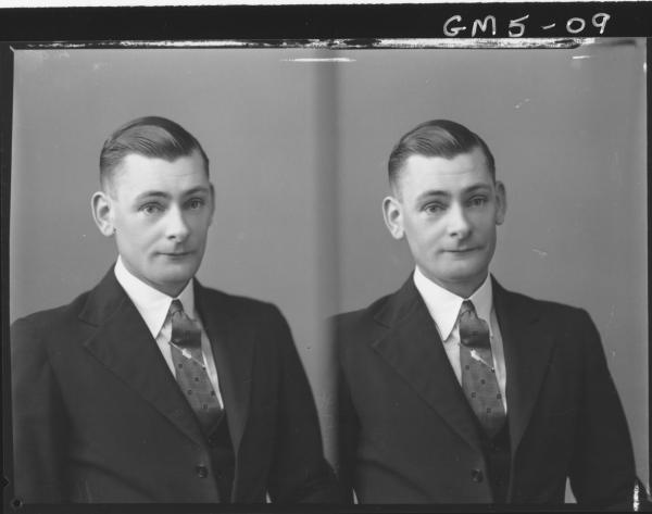 Two portrait poses of a man, H/S Lyon.