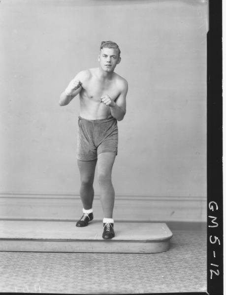 Portrait of male boxer.