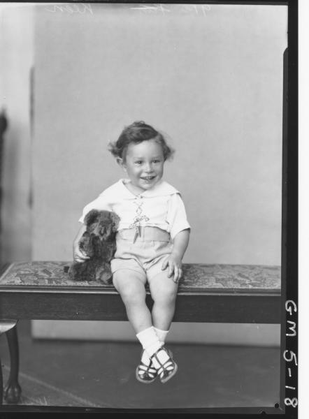 Portrait of young child, F/L Keen.