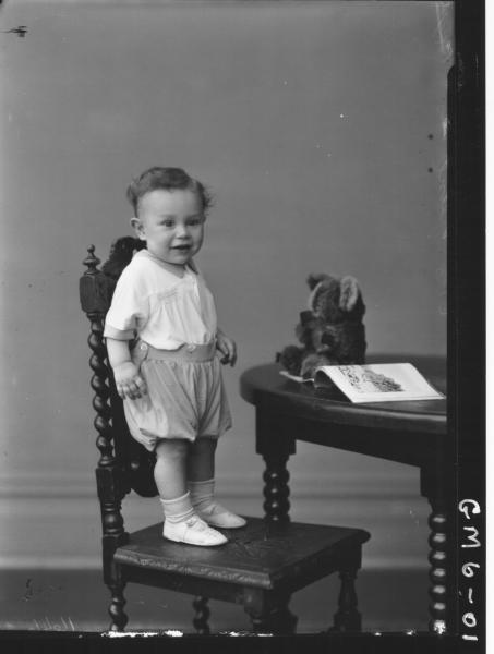 Portrait of young child, F/L Keene.