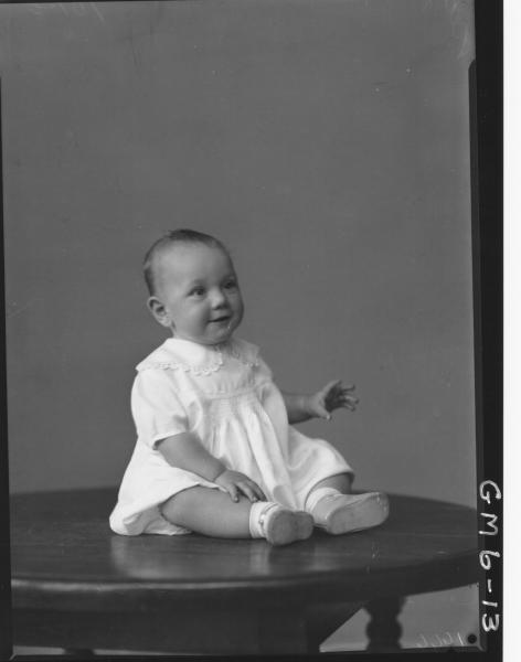 Portrait of baby, F/L Kelly.