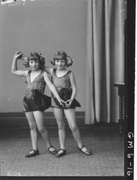 Portrait of two young girl dancer, F/L King.