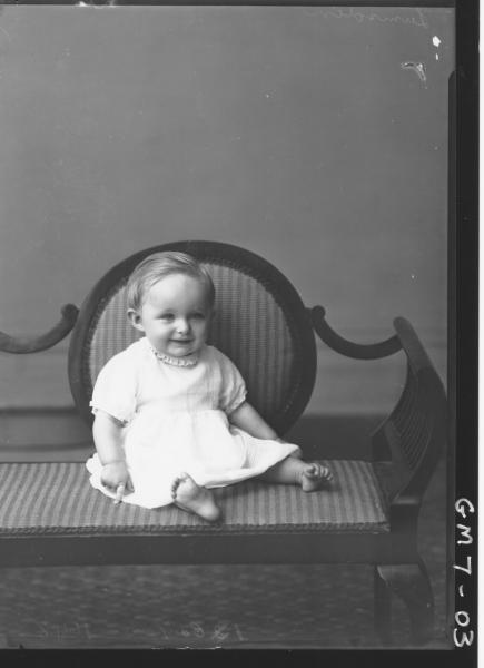 Portrait of young child, Lumsden.