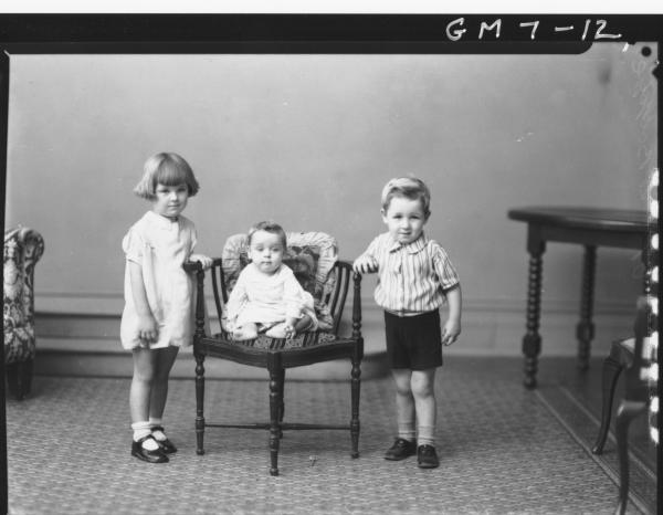 Portrait of three young children, F/L Le Boydre.