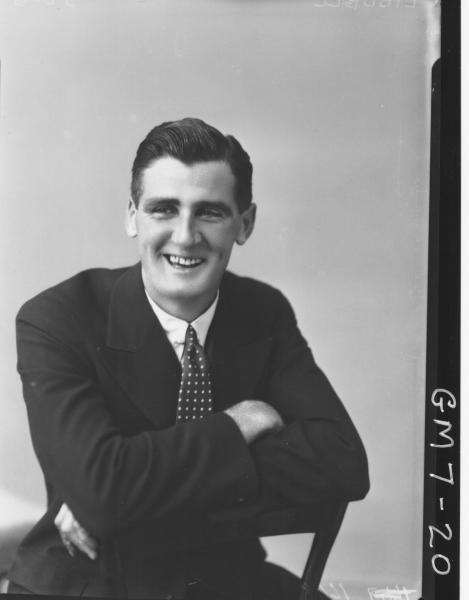 Portrait of man, H/S Liddell.