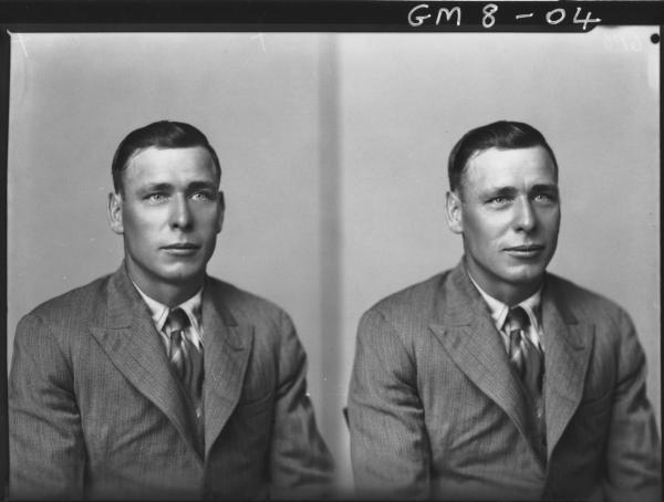 Two portrait poses of man, H/S Loffler.
