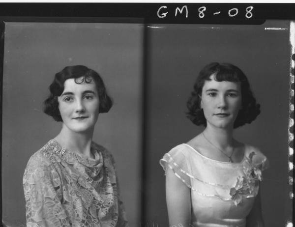 Two portrait poses of two ladies, H/S Virgo.