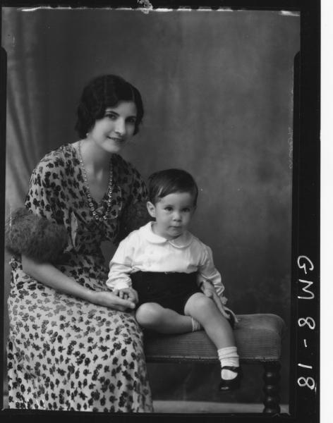 Portrait of woman and young boy, Leslie.