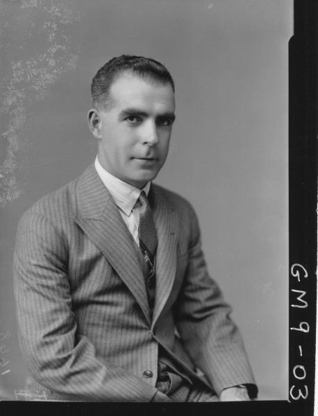 Portrait of man, H/S Leslie.