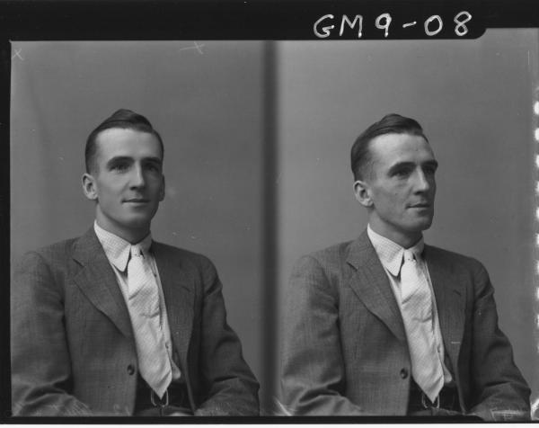 Two pose portraits of man, H/S Lambert.