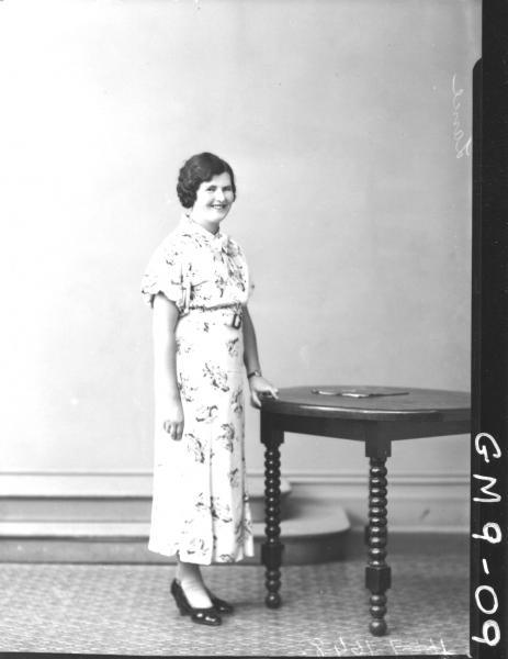 Portrait of woman, F/L Lance.