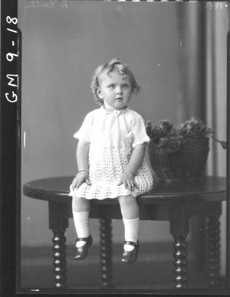 Portrait of young child, H/S McCarthy.