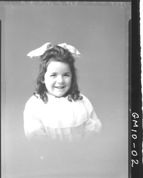 Poartrait of young child, H/S Aldridge.