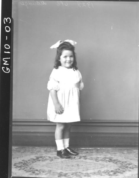 Portrait of young child, F/L Aldridge.