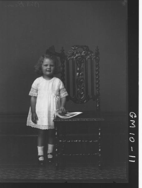 Portrait of young girl, F/L Bean Tuppy.