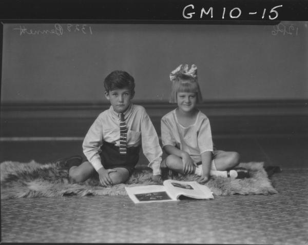 Portrait of young girl and boy, Bennett.