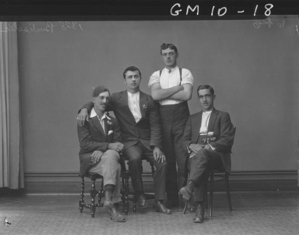 Portrait of four young men, Bucliselic/Budiscellic.