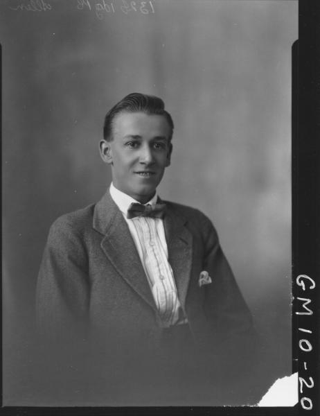 Portrait of young man, Allen.