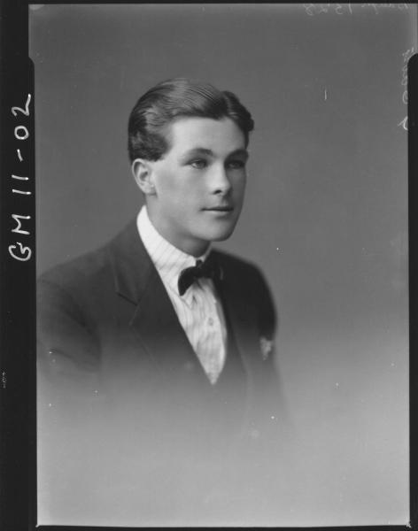 Portrait of young man, H/S Baugh.