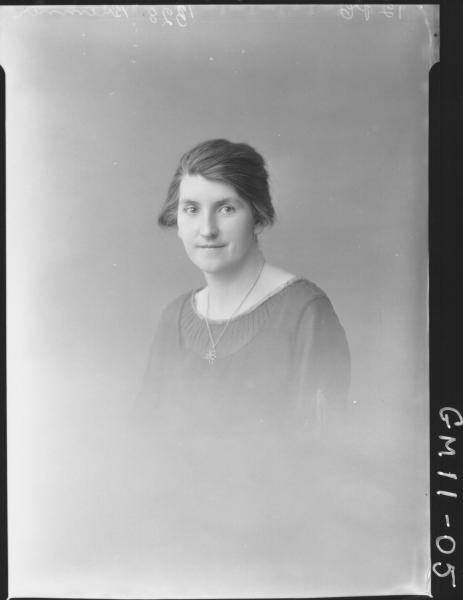 Portrait of woman H/S Bremner.