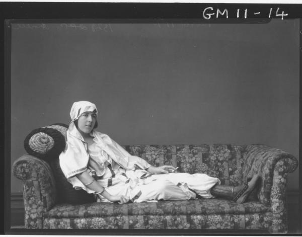 Portrait of young woman in Arab costume, F/L 'Arnell'