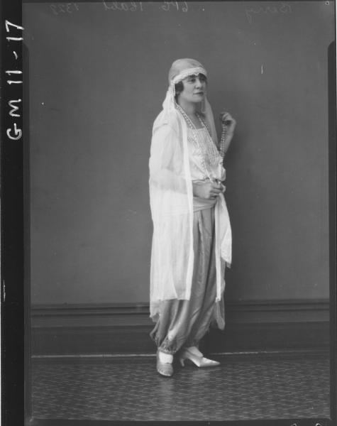 portrait of woman in Arab costume, F/L 'Berry'