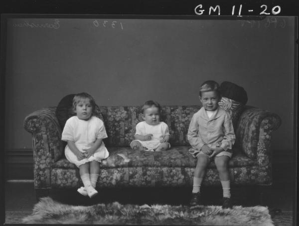 Portrait of three young children, 'Earnshaw'