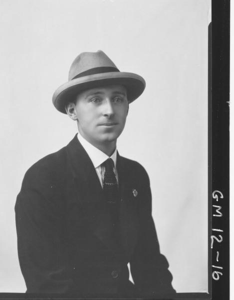 Portrait of man, H/S 'Firman'