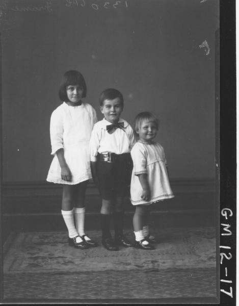Portrait of three young children, F/L 'Frame'