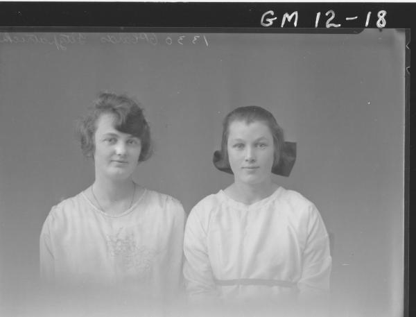 Portrait of two young woman, H/S 'Fitzpatrick'