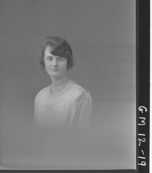 Portrait of young woman, H/S 'Fitzpatrick'