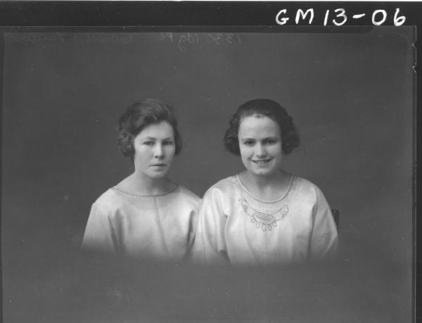 Portrait of two young woman, H/S 'Coad' and 'Taylor'