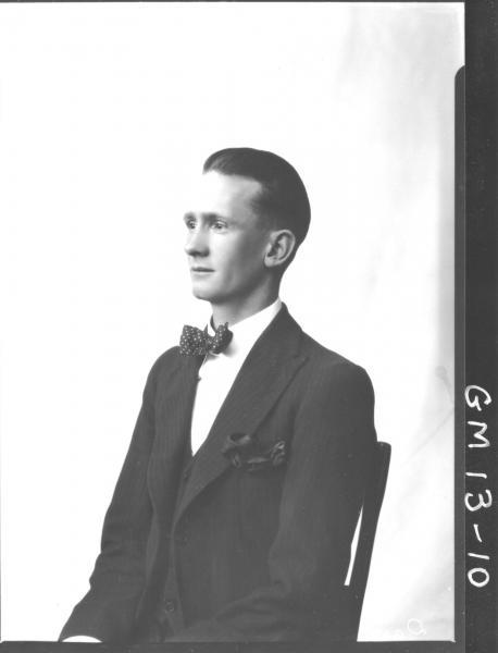 Portrait of young man, H/S 'Darron'
