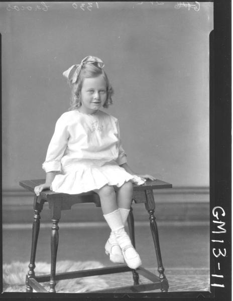 Portrait of young child, F/L 'Crocos'