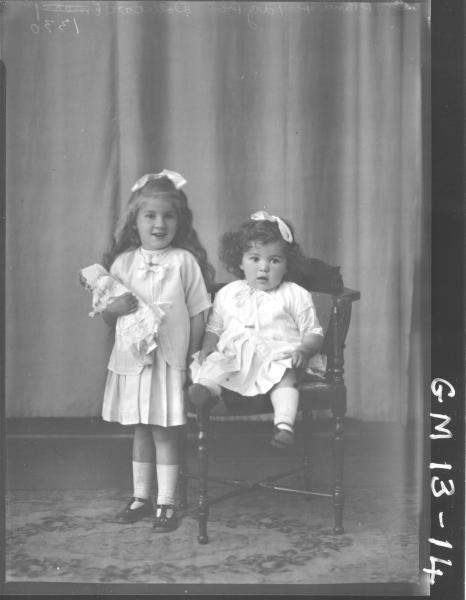 Portrait of two young children, F/L 'Dolbear'