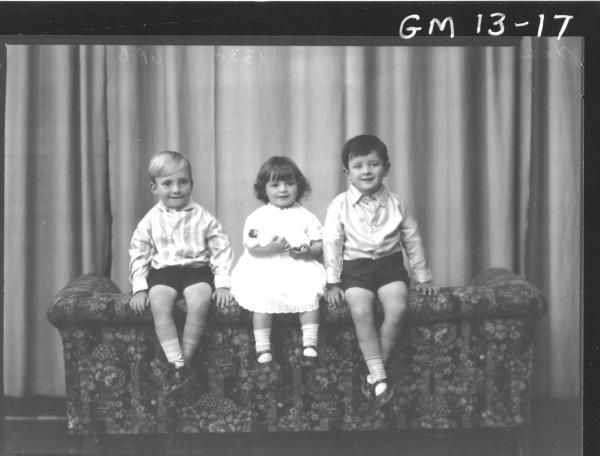 Portrait of three young children, F/L 'Clarke'