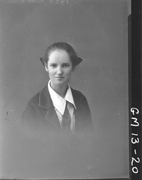 portrait of young woman H/S, 'Elliot'