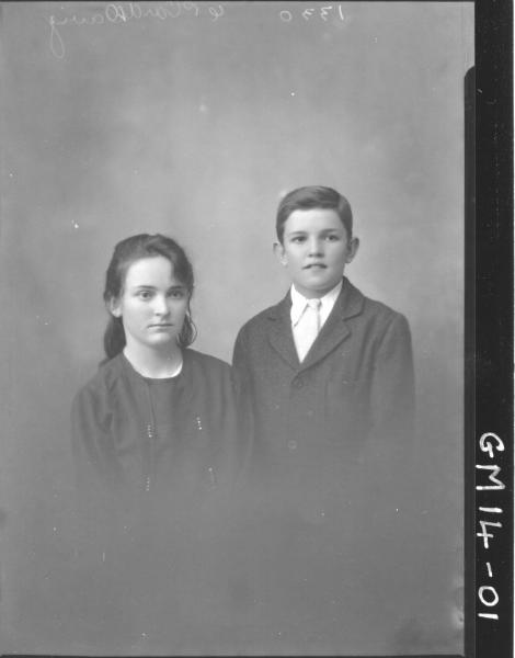 portrait of boy and girl H/S, 'Davy'