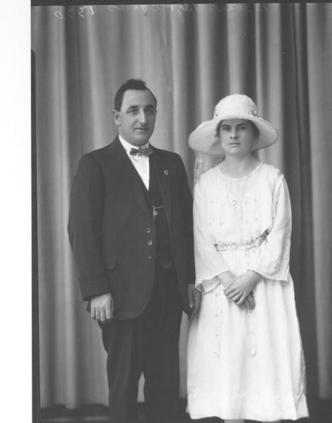 portrait of woman and man F/L, 'Davies'