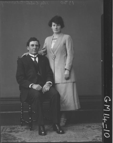 portrait of woman and man F/L, 'Ellsbury'