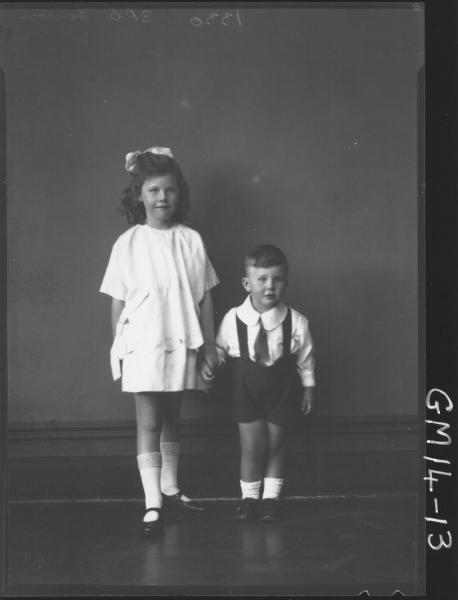 portrait of girl and boy F/L, 'Fenton'