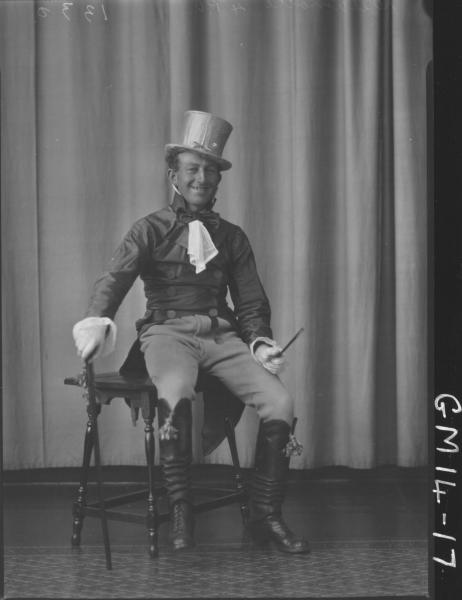 portrait of man in fancy dress F/L, 'Delamotte'