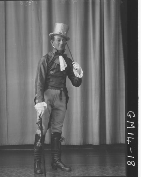 portrait of man in fancy dress F/L, 'Delamotte'