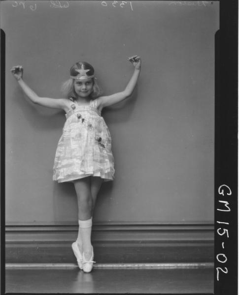 portrait of child in ballet dress F/L, 'Diston'