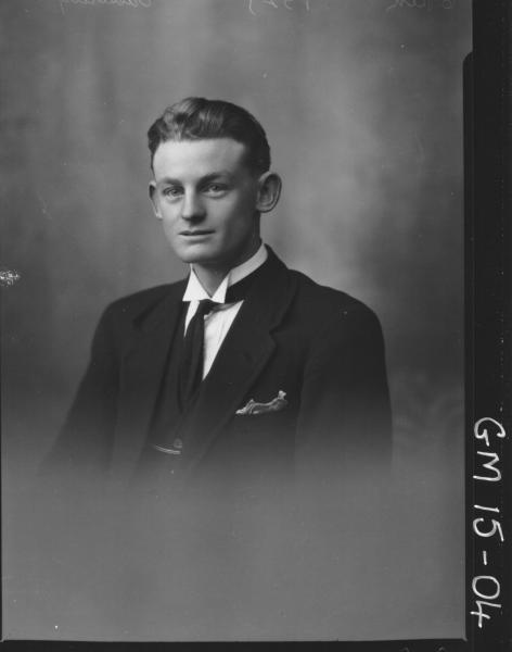portrait of man H/S, 'Casserely'