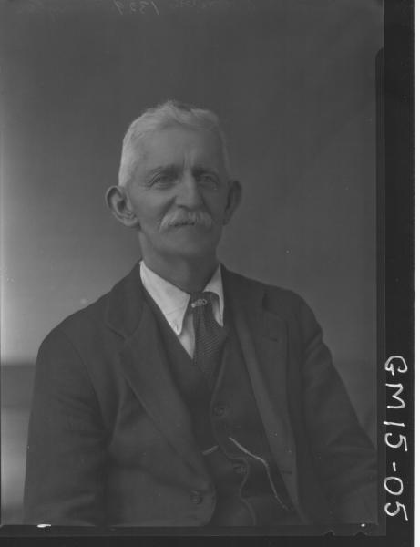 portrait of old man H/S, 'Clayton'