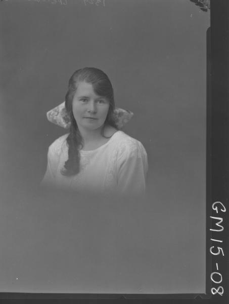 portrait of young woman H/S, 'Barnett'