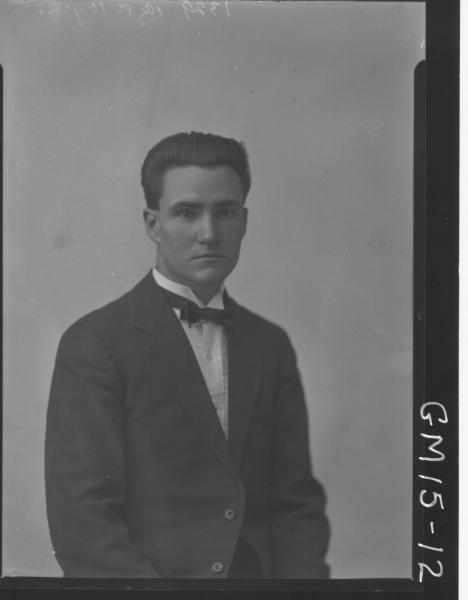 portrait of young man H/S, 'Byrns'