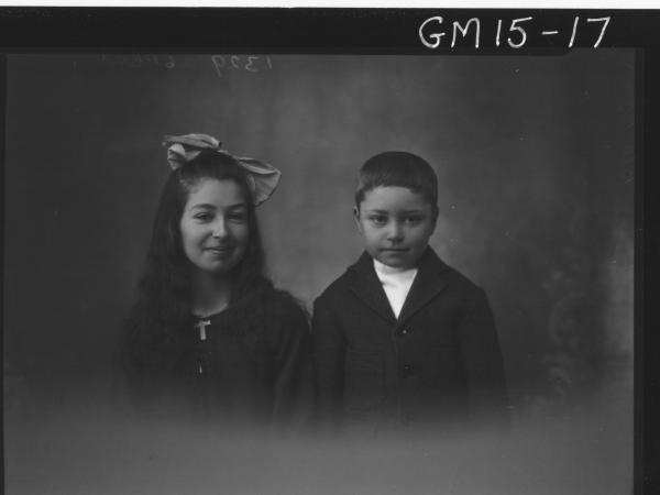 portrait of boy and girl H/S, 'Blackman'