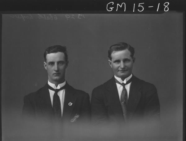 portrait of two yong men H/S, 'Cooper'